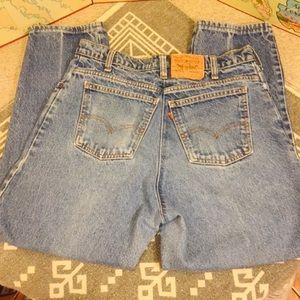 👗 Vintage Levi's 550 ORANGE TAB  36x30 Mom Jeans